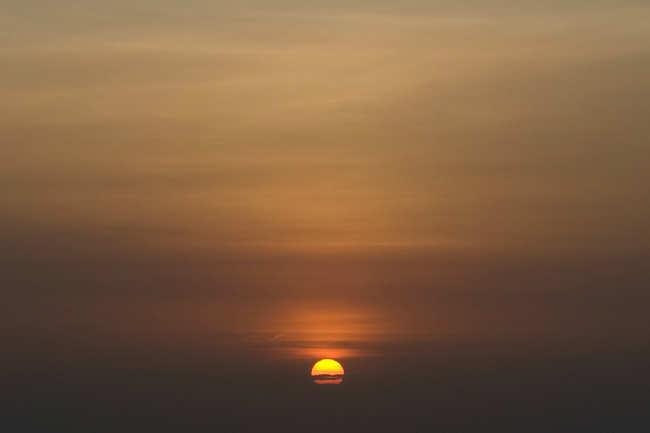 See a beautiful sunset