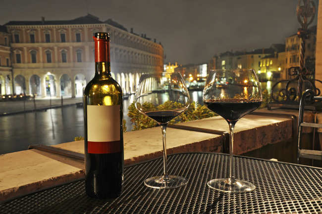 Savour a glass of Venetian wine