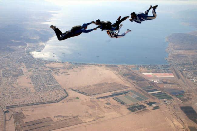 Sky diving in Aqaba