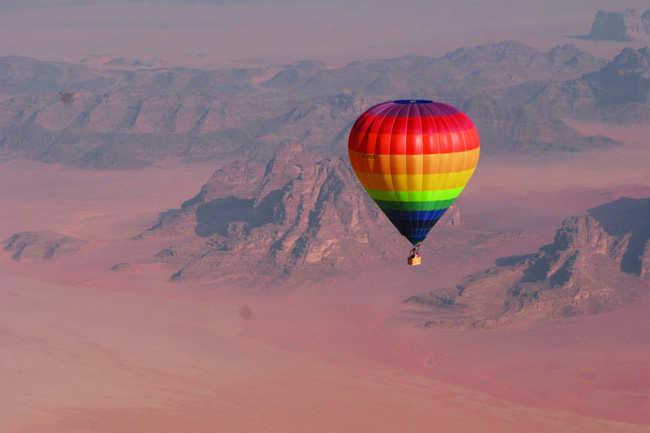 Balloon safari at Wadi Rum