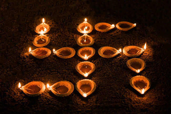 ​ Diwali diya decoration