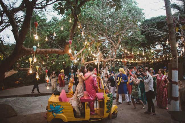 A Hippie Themed Wedding in Goa