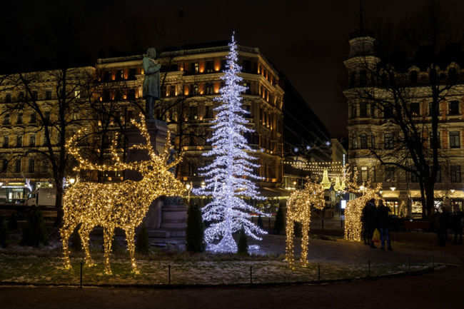 The decorations in Helsinki, Finland