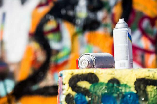 Art graffiti in Hong Kong