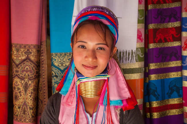 Interact with Myanmar's famed tribeswomen