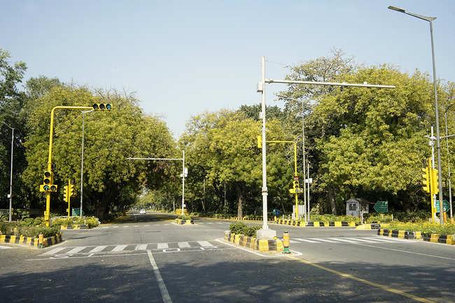 The rare zero-traffic days in Delhi
