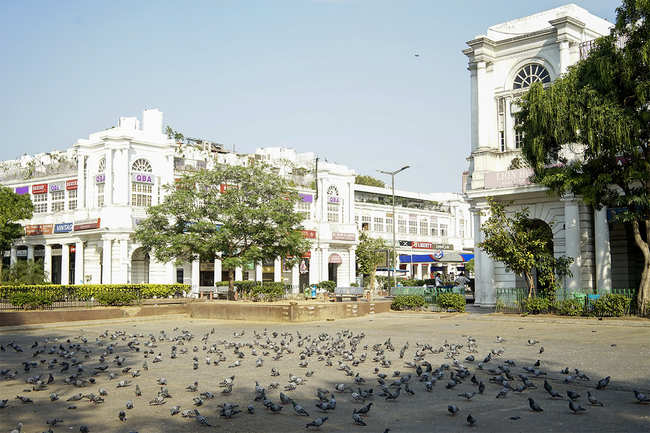 Connaught Place goes vacant