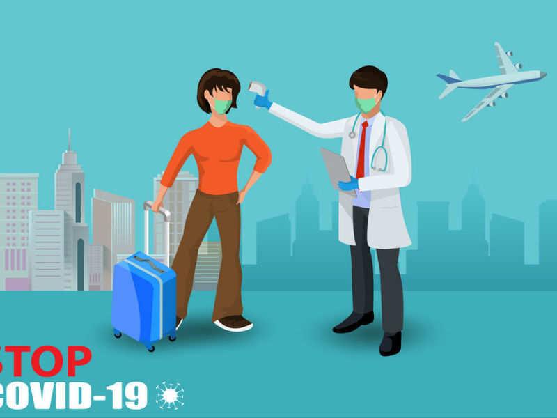 Passengers are getting COVID-19 quarantine stamps at Mumbai, Bengaluru airports, India